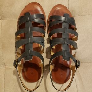 Lucky Brand Black Gladiator Sandals